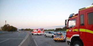 Verkehrsunfall auf der A60