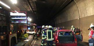 Übungsszenario im Saukopftunnel
