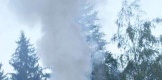 Kaminbrand in Schwarzbach (Foto: Presseteam der Feuerwehr VG Lambrecht)