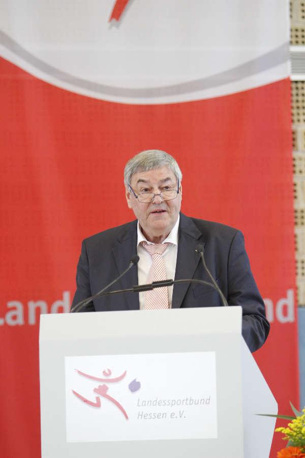 Ist und bleibt Präsident des Landessportbundes Hessen: Dr. Rolf Müller. (Foto: Landessportbund Hessen)