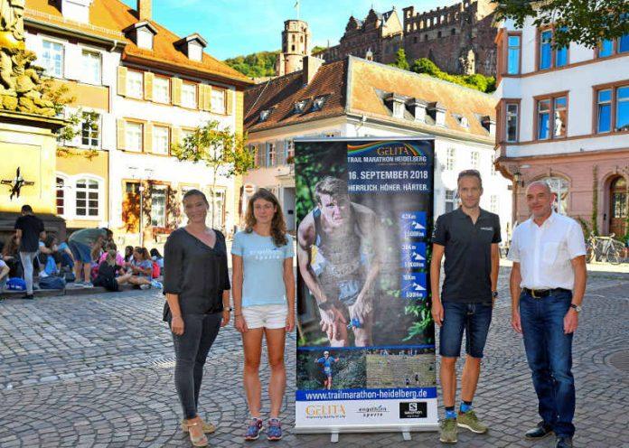 v.l.: Jessica Herbert, Prokuristin M3; Aoife Quigly, dreimalige Siegerin und Favoritin; Timo Bracht, ehemaliger Triathlon-Profi; Stephan Ruhm, Marketing GELITA (Foto: Alfred Gerold, vaf)