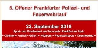 Plakatmotiv 5. Offener Frankfurter Polizei- und Feuerwehrlauf (Quelle: Feuerwehrsportverein Frankfurt am Main)