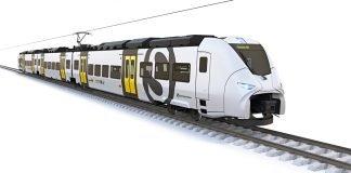 Das neue Design für die S-Bahn Siemens Mireo mit Designelementen der Länder Rheinland-Pfalz und Baden-Württemberg (Quelle: Siemens AG)