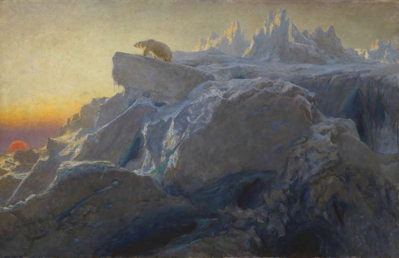 Briton Rivière, Beyond Man's Footsteps, 1894, Öl auf Leinwand, 119 x 184,5 cm (Foto: Tate, London 2017)