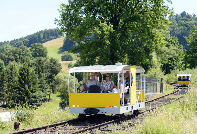 Solardraisine (Foto: Überwaldbahn)