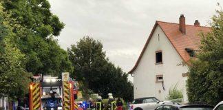 Einsatz der Feuerwehr Weinheim