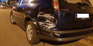 Lichtbild des beschädigten Fahrzeugs