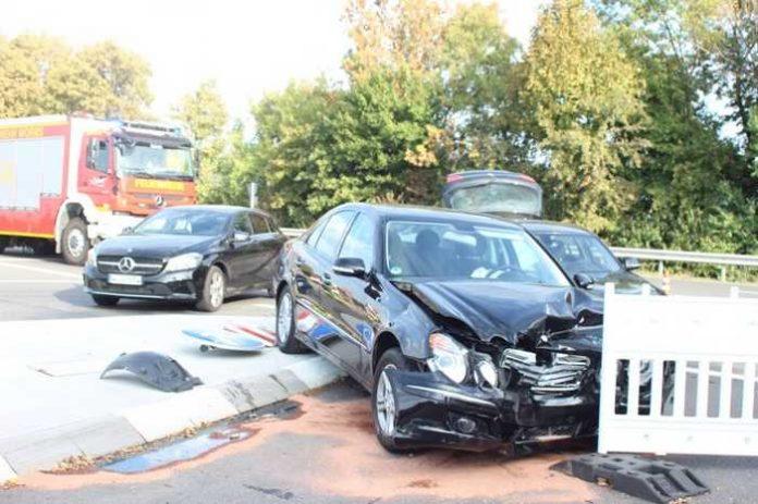Unfallstelle Kolpingstraße, Einmündung B47