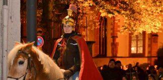 Tanja Berger beim Martinsumzug im vergangenen Jahr. Quelle: Stadt Bingen