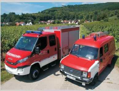 Feuerwehr Burrweiler Fahrzeuge zur Einweihung
