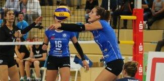 Endlich fliegt wieder der Ball: Hier bei VCW-Mittelblockerin Nathalie Lemmens (Foto: Detlef Gottwald)