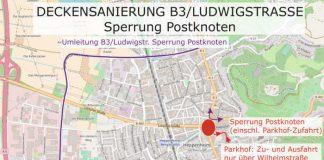 Umleitungsplan (Quelle: Stadt Heppenheim)