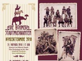 Die Böhmer Stadtmusikanten - Konzerte im Oktober und November 2018