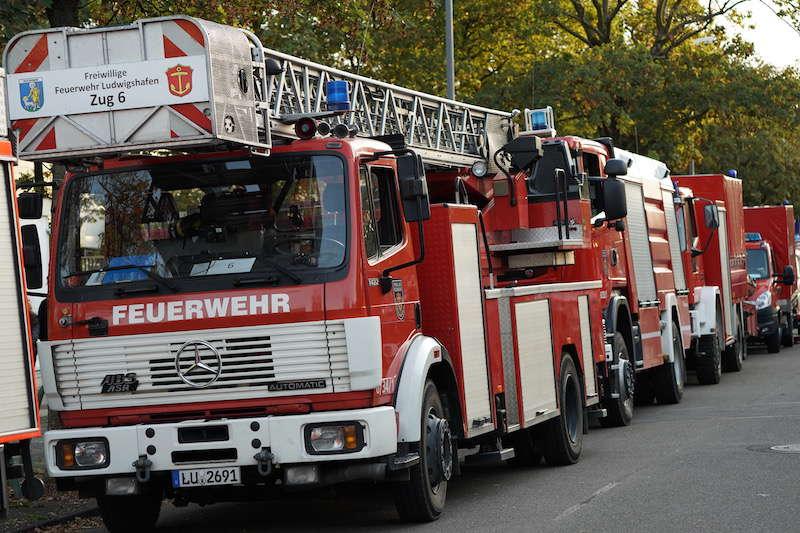 Symbolbild, Feuerwehr LU, Einsatz, Blaulichtumzug © Holger Knecht