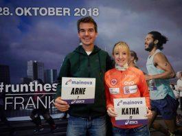 Arne Gabius und Katharina Heinig (Foto: Mainova Frankfurt Marathon)