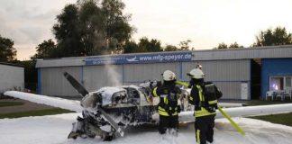 Brand eines Flugzeuges
