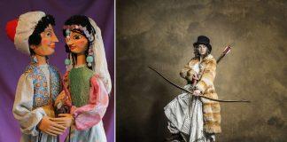 Aladin und die Sultanstocher. Sammlung des Museums für PuppentheaterKultur PuK, (Foto: Jens Welsch), Ronja Räubertochter. Theater und Orchester Heidelberg, (Foto: Ludwig Ohla)
