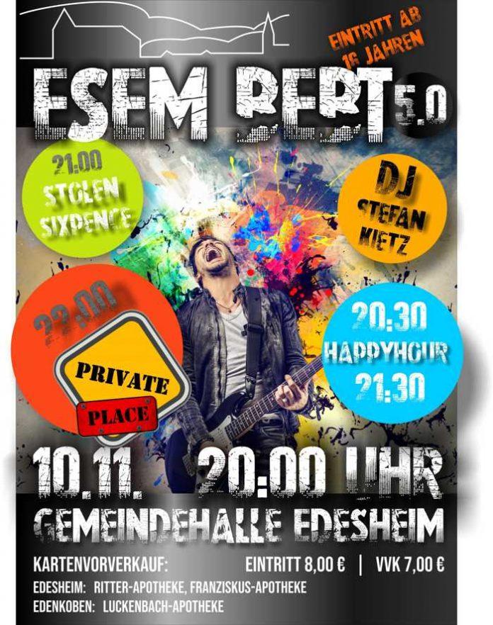 """Plakat zu Edesheim: """"Esem bebt"""" zum fünften Mal"""