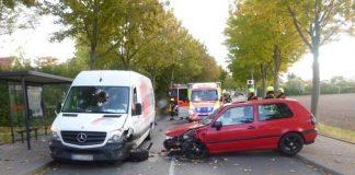 """Unfall am Montag, 1. Oktober 2018 in der Straße """"Lange Wender"""" in Vellmar."""