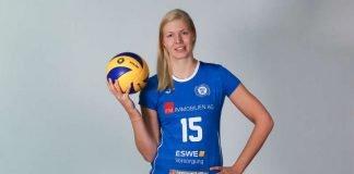 Laura Pihlajamäki verstärkt den VCW-Mittelblock (Foto: Detlef Gottwald)