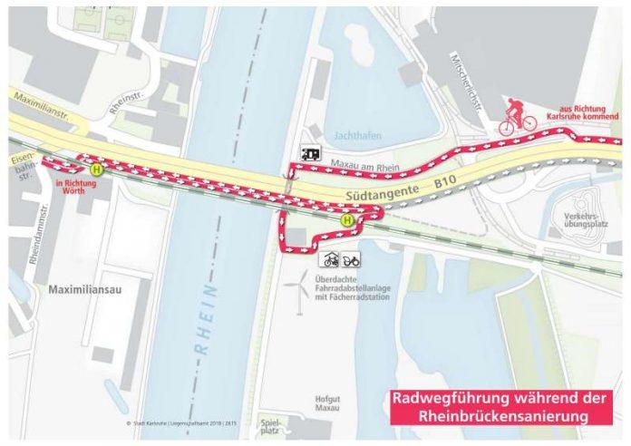 Umleitung Fahrradweg (Quelle: Regierungspräsidium Karlsruhe)