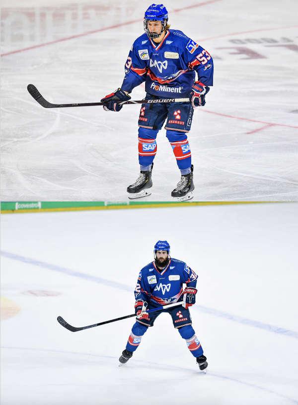 Moritz Seider (oben) und Cody Lampl (Foto: AS-Sportfoto / Sörli Binder)