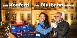 Fastnachts-Kampagne 2019: Mit Konfetti in der Blutbahn feiern! Miteinander. Füreinander. (Quelle: Polizei RLP)