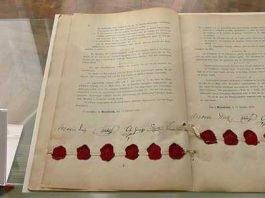 Mannheimer Akte von 1868; Benutzer: Er schon wieder Lizenz: https://creativecommons.org/licenses/by-sa/3.0/deed.de