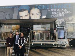 OB Weigel (Mitte) besuchte zusammen mit der WEG die Berufs- und Studieninformationsmesse. (Foto: Stadtverwaltung Neustadt)