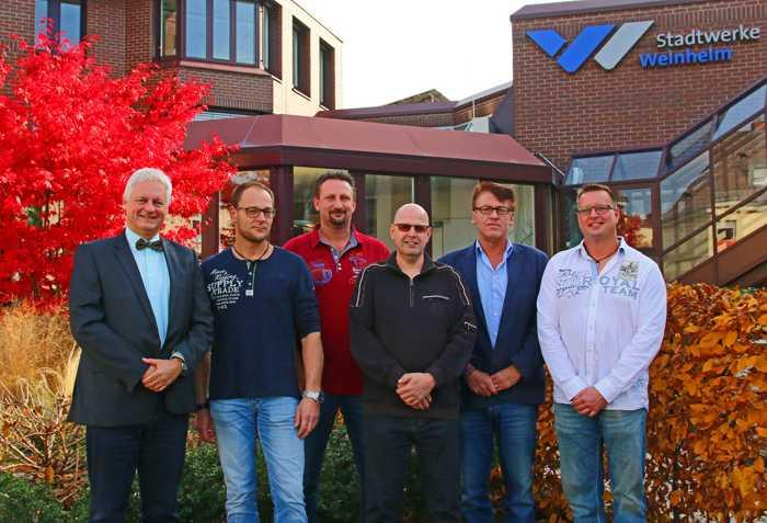 Stadtwerke Weinheim ehren langjährige Mitarbeiter – zwei ehemalige Azubis unter den Jubilaren