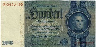 Hundert Reichsmark © Deutsche Bundesbank, Frankfurt am Main