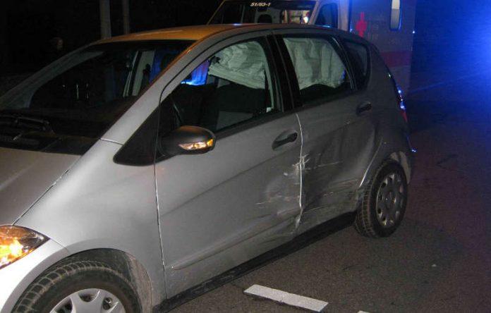 Verkehrsunfall an der Einmündung Martin-Luther-Str. / Branchweilerhofstraße (Foto: Polizei RLP)