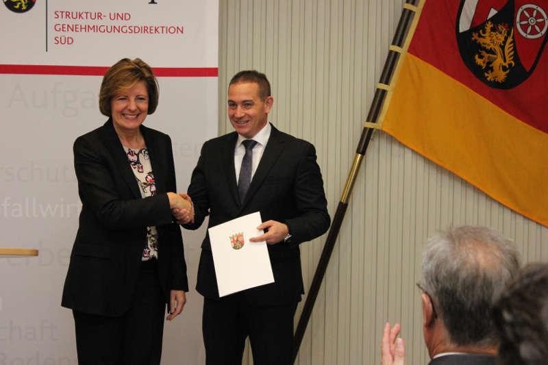 Ministerpräsidentin Malu Dreyer, künftiger SGD Süd Präsident Prof. Dr. Hannes Kopf (Foto: SGD Süd)