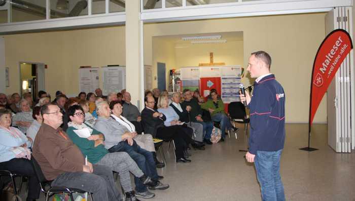 Über 70 Interessierte sind der Einladung der Malteser zum Info-Abend gefolgt. Bildrechte: Malteser Frankenthal.