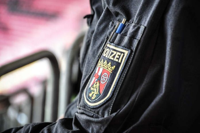 Polizei im Stadion (Foto: Polizei RLP)