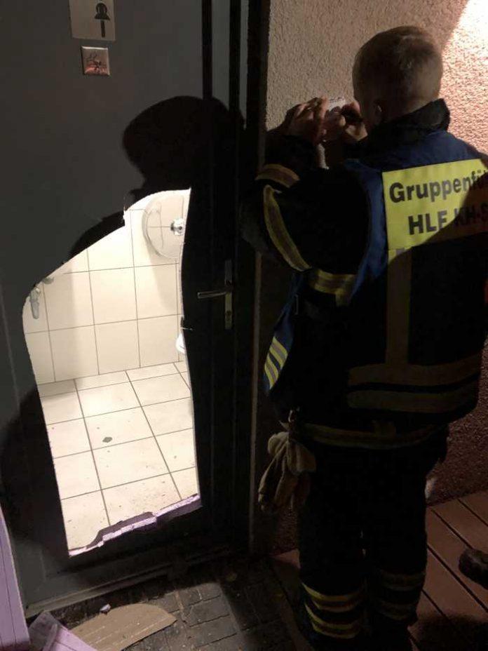 Die Tür musste mit einer Säge geöffnet werden