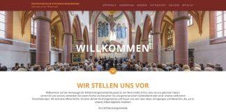 Screenshot Ausschnitt aus der Webseite der Stiftskirchengemeinde Neustadt an der Weinstraße