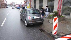 Unfallstelle Bahnhofstraße Worms