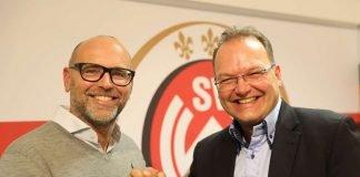 Der wiedergewählte Vereinspräsident Markus Hankammer (l.) und SVWW-Geschäftsführer Nico Schäfer (Foto: svww.de)