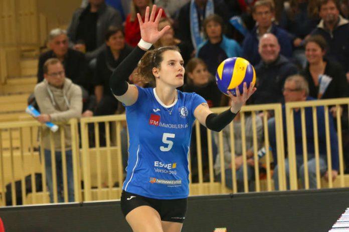 Wegen der Nationalmannschaft: Nathalie Lemmens kann beim Spiel gegen Schwerin nicht für den VCW angreifen (Foto: Detlef Gottwald)
