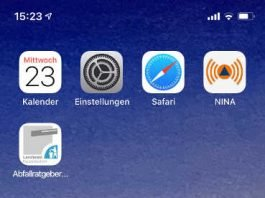 Abfallratgeber-App auf Handy
