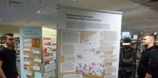 Die Ausstellung zeigt unter anderem rechtsextreme Aktivitäten im Land. (Foto: Stadtverwaltung Neustadt)