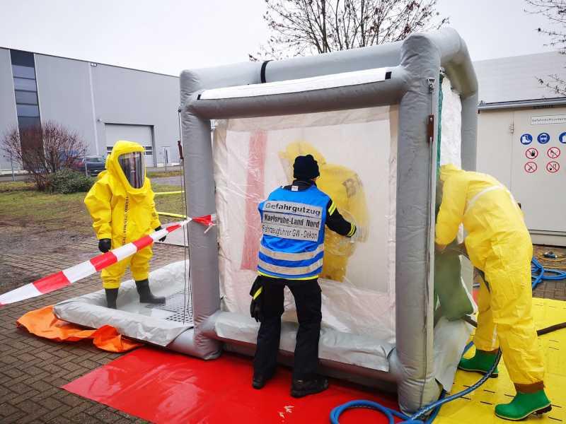 Dekontaminationsstation der Feuerwehr Bruchsal