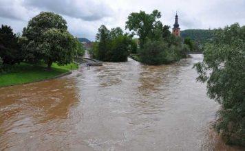 Archivbild Stadt Bad Kreuznach Hochwasser Mai 2013