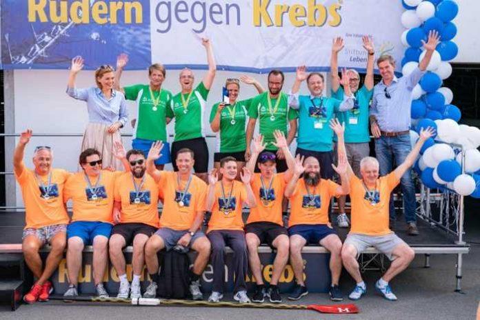 Rudern gegen Krebs Mainz 2018 Siegerehrung