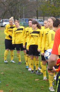 Spielerinnen des SV Weinberg (Foto: Hannes Blank)