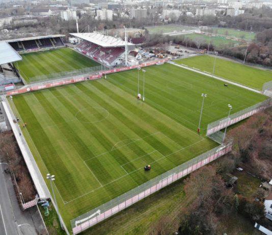 Neues Trainingsgelaende am Bruchweg Blickrichtung Südwesten (Foto: Mainz 05)
