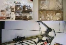 Aufgefundene Drogen und Waffen (Foto: Polizei RLP)