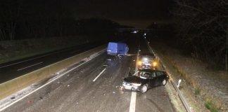 Verkehrsunfall mit mehreren beteiligten Fahrzeugen (Foto: Polizei RLP)