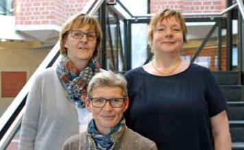 Zuständig für den Landkreis SÜW und die Stadt Landau: Die Gemeindeschwestern plus Ute Wingerter, Patricia Niederer und Barbara Bouché (v.l.).